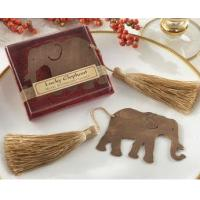 Buy cheap Lucky Elephant Bookmark with Gold Silk Tassel Favors product