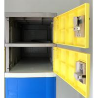 Buy cheap Fitness Center Lockers 10 Comparts 1 Column , Strong Commercial Gym Lockers from wholesalers