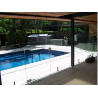 High security decorative glass pool fencing with for Designer glass pool fencing