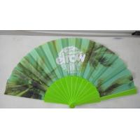 Buy cheap Promotional Heat Transfer / Silk Printing Plastic Folding Hand Fans With Customer Logo from wholesalers