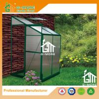Buy cheap 4'x4'x6.7'FT Green Color Single Door Wall Lean-To Series Garden Greenhouse from wholesalers