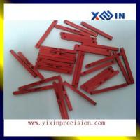 Buy cheap Red anodized small aluminum cnc components wire cut spare parts aluminum EDM wire cut parts from wholesalers