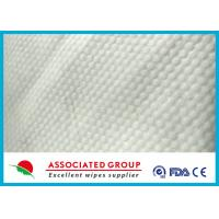 Buy cheap Small Pearl Dot Spunlace Nonwoven Fabric , Nonwoven Roll Ultra Thick 30~120GSM from wholesalers