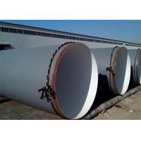 Buy cheap ASTM A36 SSAW 3PE Coating Round Steel Pipe , API 5L SCH40 Spiral Welded Oil Line Pipe from wholesalers