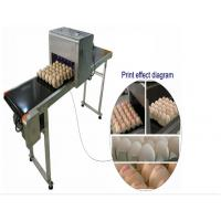 Buy cheap Automatic Single Row Egg Printing Machine With Small Solvent Printer from wholesalers