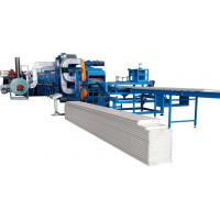 Buy cheap Sheet Thickness 0.3 - 0.8mm 3- 6m/min Speed PU Sandwich Panel Production Line With Auto Stacker from wholesalers