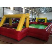 Buy cheap Indoor small Inflatable Football Pitch red Inflatable football field for Kindergarten Baby from wholesalers