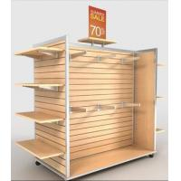 Buy cheap Floor Stand Slatwall Display Panels / Aluminum Strip Slatwall Display Stand from wholesalers