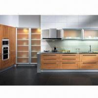Buy cheap Baking Varnish Kitchen Cabinet with Melamine-faced Moisture-resistant Particleboard from wholesalers