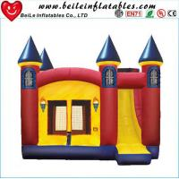 Buy cheap High quality gaint PVC Inflatable bouncer castle toys with slide from wholesalers