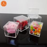 Buy cheap Personalized Cube Acrylic Candy Boxes Wedding Favor Display Box Packaging from wholesalers