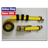 Buy cheap Yellow Tire Tie Down Straps , 2 X 27' Flat Hook Ratchet Straps For Trucks from wholesalers