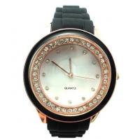 Buy cheap Customized Waterproof Womens Quartz Watches , Diamond Silicone Watch from wholesalers