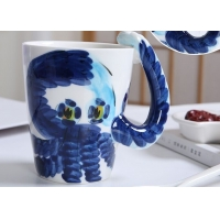 Buy cheap Supermarket 450ml Hippocampus 3D Ceramic Mugs from wholesalers