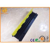 Rubber Electrical Wire Floor 3 Channel Cable Protector Ramp Black Yellow 9kg Weight