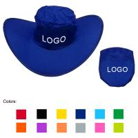 Buy cheap Polyester folding cowboy hat with same color pouch, foldable beach hats from wholesalers