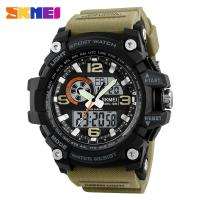 Buy cheap SKMEI new Outdoor Sport Mens Watches 1283 Relogio Masculino Luxury Army 5ATM Digital Watch Military Casual  hot  jam tan from wholesalers