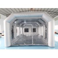 Buy cheap 7x4x3m Carbon Filter Paint Inflatable Spray Booth Inflatable Tent For Car from wholesalers