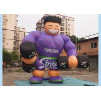 Buy cheap Purple Shirt Advertising Inflatables Muscle Man Commercial Grade for promotion used from wholesalers