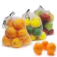 Buy cheap Reusable Mesh Sleeve Plastic Polyester Mesh Kitchen Fruit / Vegetable Storage Bags from wholesalers