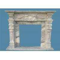 Buy cheap China marble Classic Grey Marble Fireplace Surround Heat Resistance For Decoration from wholesalers