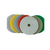 Buy cheap White Pane Wet Diamond Polishing Pads Chemical Stability For Marble / Quartz from wholesalers