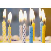 Buy cheap Simple Spiral Striped Birthday Candles With Colorful Dots No Harmful Tearless product