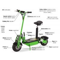 Buy cheap Green Folding Electric Mobility Scooter Lightweight With Lead Acid / Lithium Battery from wholesalers