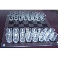 Glass Chess Set,White Glass Chess Game,Large Glass Chess Set