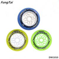 Buy cheap Skates Wheel Roller Inline Skate Shoes Speed Skate Wheels 90mm 100mm 110mm Wheels Yellow Green Blue Colors (DW1010) from wholesalers