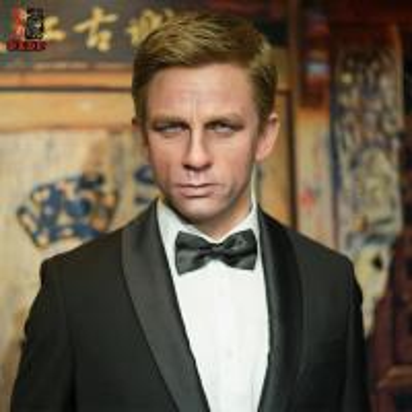 Quality Realistic Human Lifesize Wax Sculpture Figure for James Bond for sale