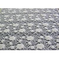 Buy cheap Washable Brushed Floral Lace Stretch Fabric / Nylon Cotton Spandex Fabric CY-LQ0043 from wholesalers