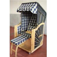 Buy cheap Outdoor Beach Yellow Roofed Wicker Beach Chair & Strandkorb , UV Resistant from wholesalers