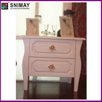 Buy cheap Modern Nightstand Bedroom Bedside Tables With Gold Flower Handle from wholesalers