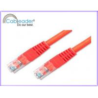 Buy cheap High Speed Cat 5e networking cables, RJ45 Patch Cable with red color from wholesalers