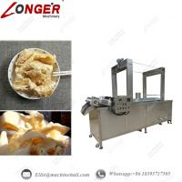 China Continuous Pork Skin Frying Machine Automatic Pork Skin Fryer Industrial Pork Skin Frying Equipment Continuous Fryer on sale