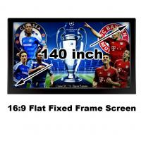 Buy cheap Hot Selling 140Inch Flat Fixed Frame Wall Mount Projection Screen 16:9 For Cinema Room from wholesalers