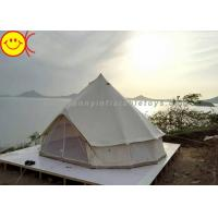 Buy cheap Outdoor Inflatable Tent Waterproof Cotton Canvas Family Camping Bell Tent Indian Teepee Tent from wholesalers