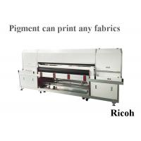 Buy cheap 8 Ricoh Digital Textile Printer For Pigment Printing 1800mm Automatic Cleaning from wholesalers