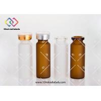 Buy cheap Sealable Little Glass Vials , Steroids Anabolics Amber Glass Bottles from wholesalers