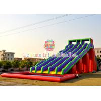 Buy cheap 14m Height Giant Water Slide , Five Lane Inflatable Water Slide With A Pool from wholesalers