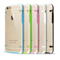 Buy cheap White / Black Clear Iphone Protective Cases , Apple iPhone 6 Silicone TPU Bumper Case from wholesalers