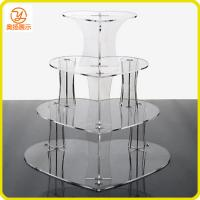 Buy cheap Counter top heart shape 4 tiers acrylic cupcake display from wholesalers