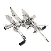 Buy cheap Knurled Foot Pegs Motorcycle Rear Sets Smooth CNC Yamaha FZ1 Rearsets from wholesalers