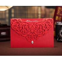Buy cheap Modern Laser Cut Wedding Invitations with Unique Rhinestones CW3108 from wholesalers