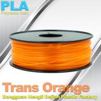 Buy cheap 1.75mm /  3.0mm Trans Orange PLA 3D Printer Filament Colors 1KG / Roll product