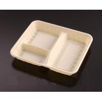 Buy cheap 190mm Plastic Rectangular Disposable Food Trays Three Compartments from wholesalers