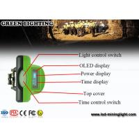 Buy cheap Green LED Mining Headlamp 6.4 Ah with OLED screen with PP meterial from wholesalers