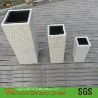 Buy cheap 6pcs White Garden PE Rattan Flower Pots from wholesalers