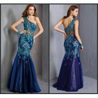 Buy cheap Vintage Mermaid Tulle One Shoulder Party Dresses Ladies Evening Maxi Dresses from wholesalers